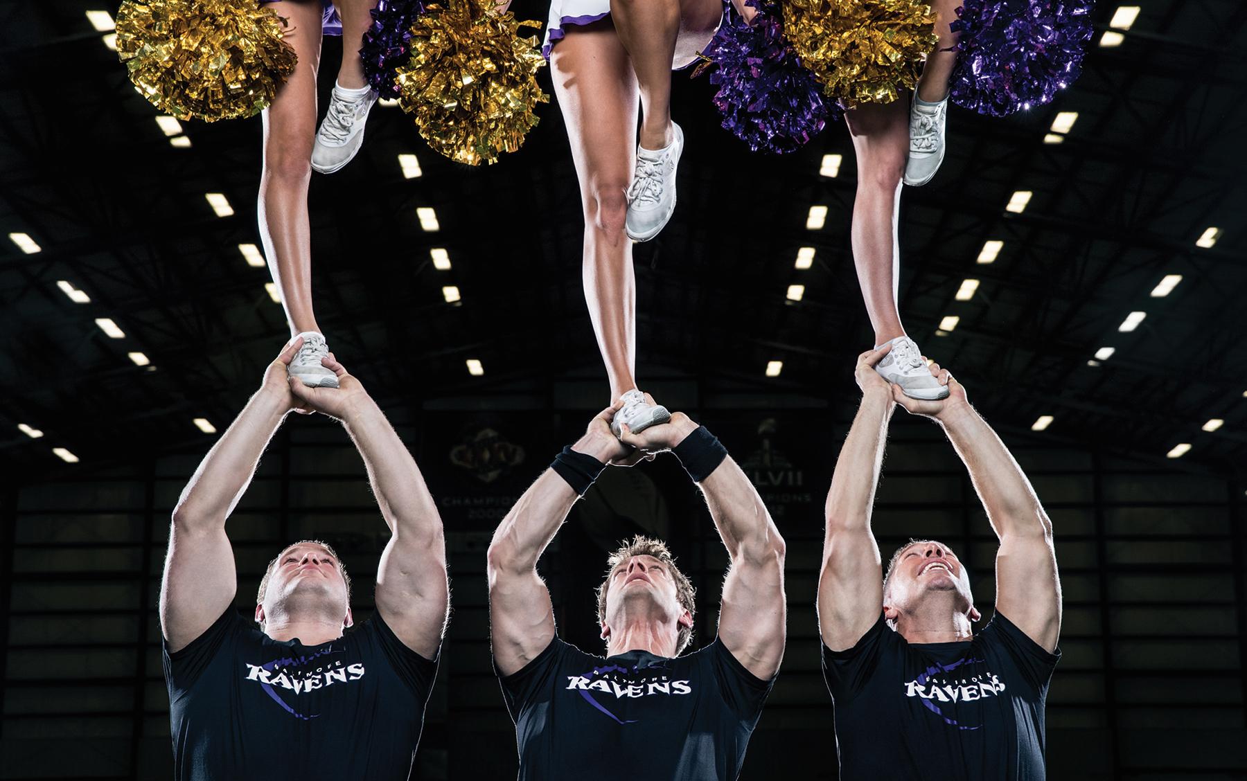 The Ravens Male Cheerleaders Elevate Their Sport
