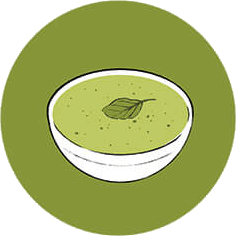 An illustration of a bowl of soup.