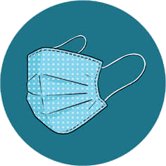 An illustration of a face mask.