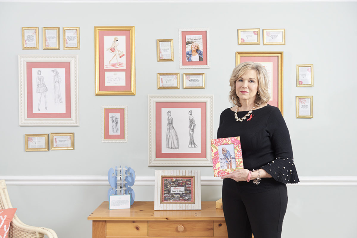 Marianne Banister in her home office surrounded by memories of Claire. Mike Morgan