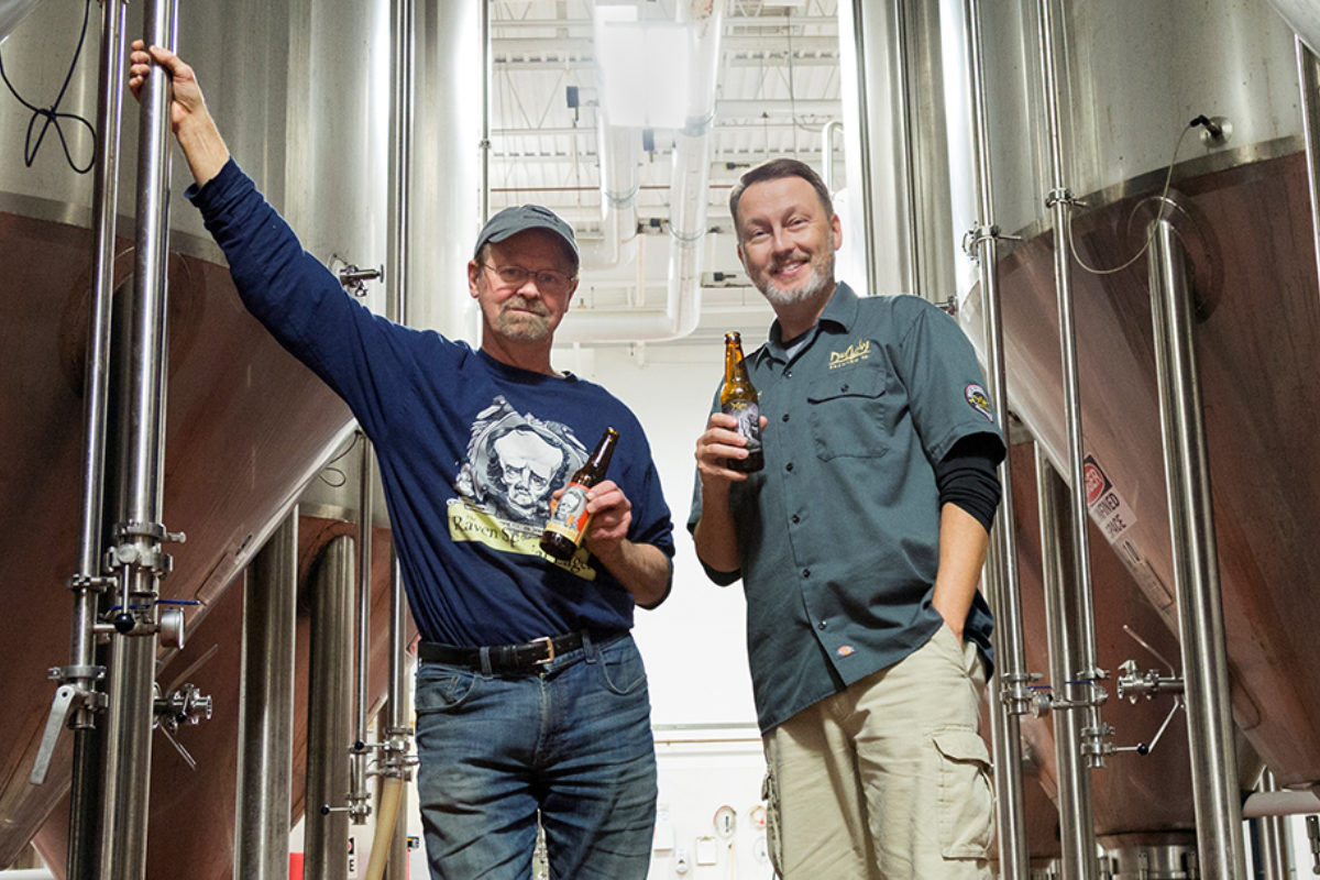 Stephen Demczuk of RavenBeer and Dave Benfield of DuClaw Brewing.RavenBeer