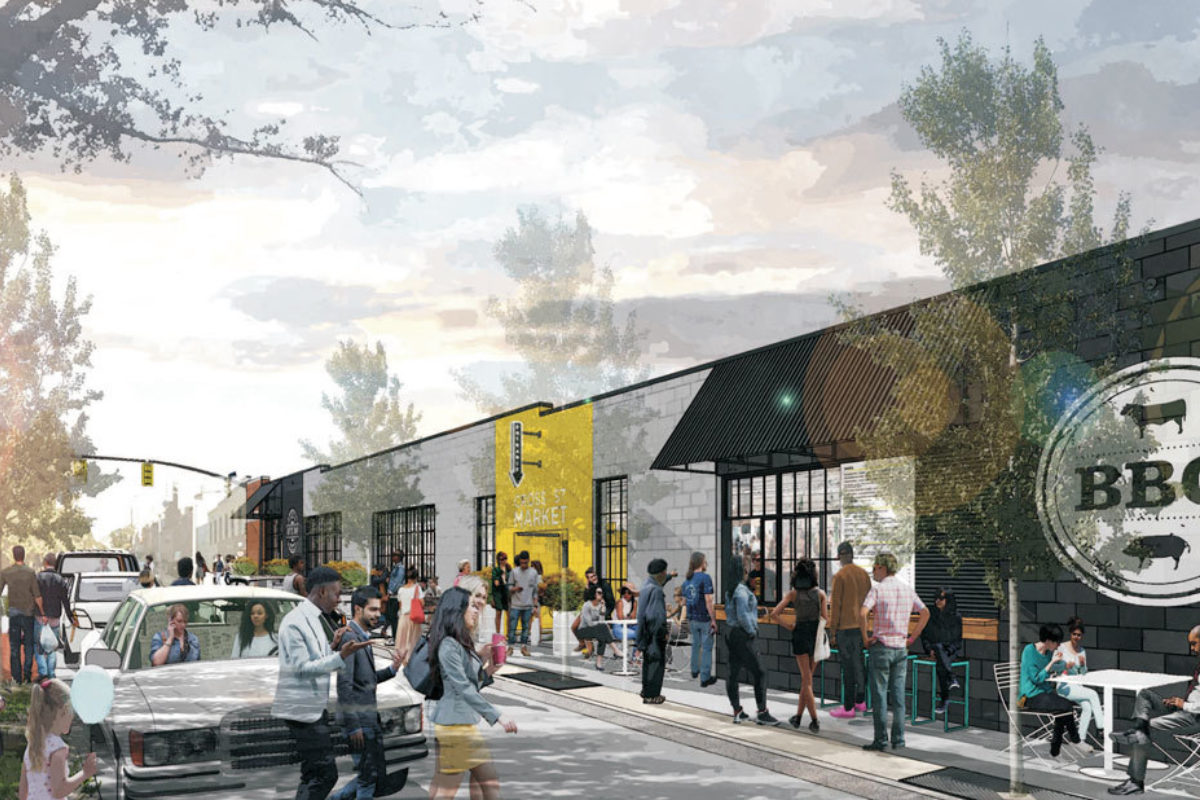 Renderings of the new Cross Street MarketCaves Valley Partners
