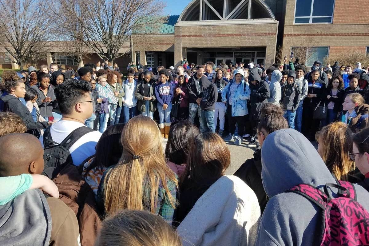 Great Mills High School students on March 14 for National Walkout DayJoy Shrum