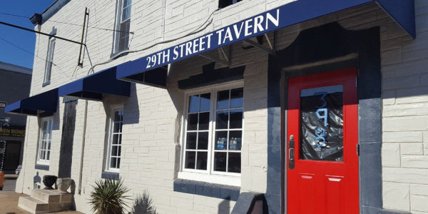 New awning and signage at 29th Street Tavern.Swallow at the Hollow