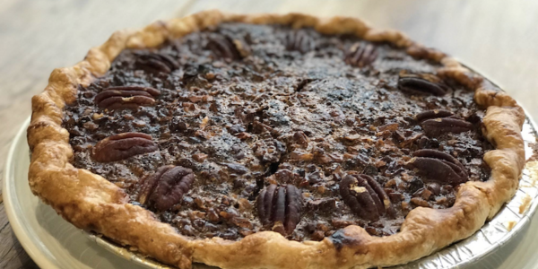 House pecan pie at Atwater's. Atwater's