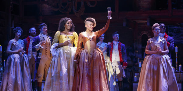 From left, Amber Iman and Emmy Raver-Lampman among the Hamilton cast on its national tour.Joan Marcus