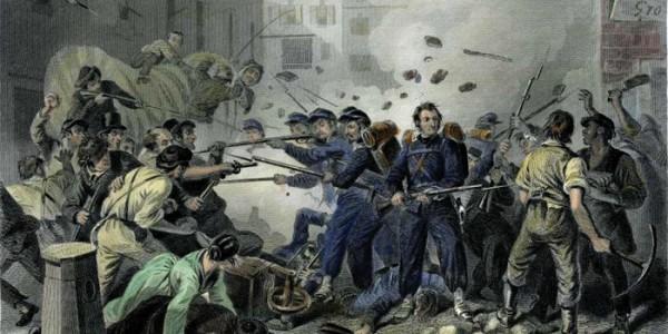 Depiction of Pratt Street Riot.Library of Congress