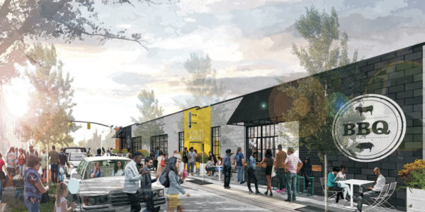 Renderings of the new Cross Street MarketCaves Valley Partners