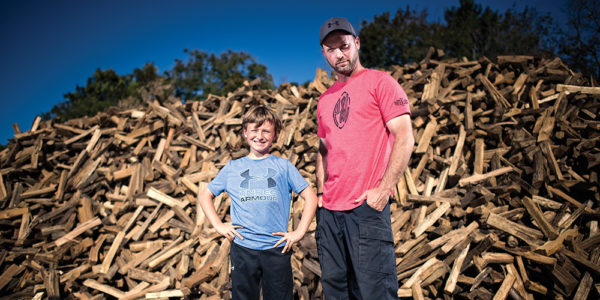 Ben Cole and his son, Will, at Blue Moon Farms.Christopher Myers