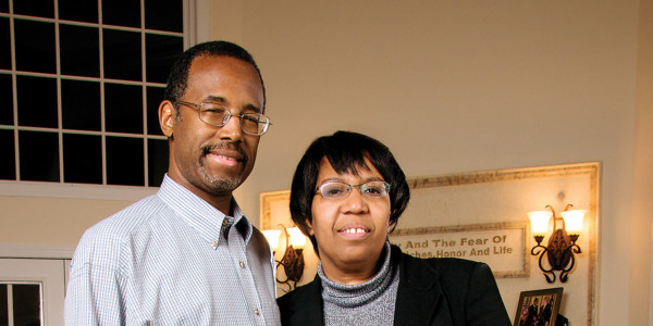 Dr. Ben Carson with wife Candy in their Baltimore County Estate.Photography by Cory Donovan