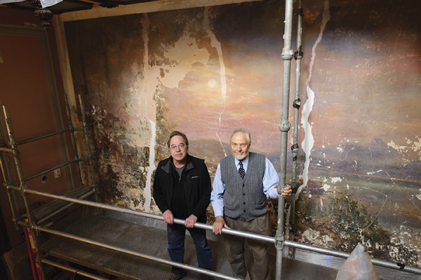John Ciekot and Thomas Moore of Thomas Moore Studios, which is overseeing the artistic renovations.Mitro Hood