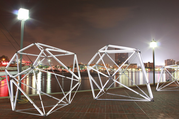 The installation Diamond Lights Baltimore.Courtesy of the Baltimore Office of Promotion & the Arts