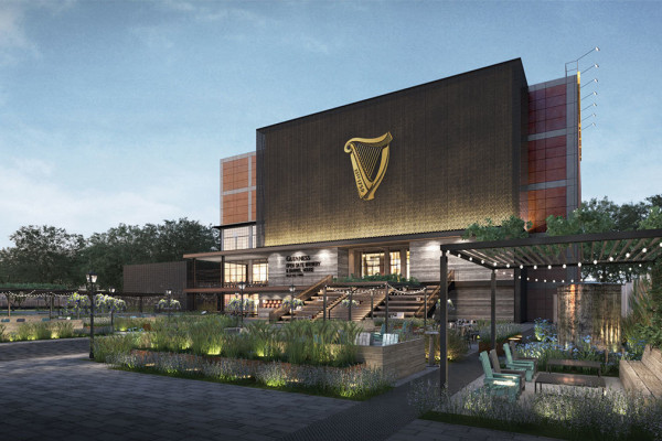 Rendering of the Open Gate Brewery & Barrel House set to open in 2018.Diageo