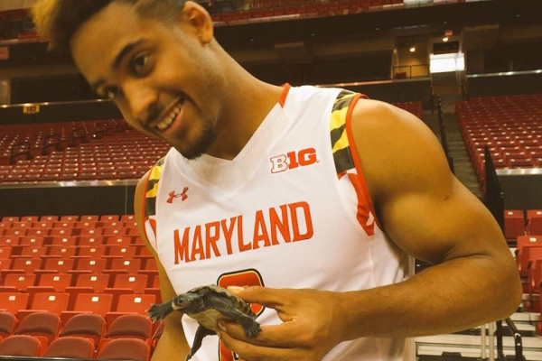 Sophomore guard Melo Trimble taking the whole Terrapin thing pretty seriously.University of Maryland