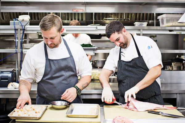 Bryan Voltaggio and chef de cuisine Dan Izzo.Photography by Scott Suchman
