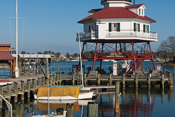 Drum Point Lighthouse is a main attraction on Solomons Island.Photo by David Colwell