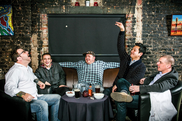 From left: Cyrus Keefer, Chris Amendola, Chad Gauss, Jonah Kim, and Chris Becker.Photography by Justin Tsucalas