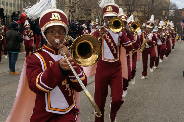 The Dunbar High School band at the Martin Luther King, Jr. parade.Photography by Ron Cassie