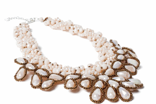Beaded bib Nakamol necklace ($195) at Treasure House Accessories.Photography by David Colwell