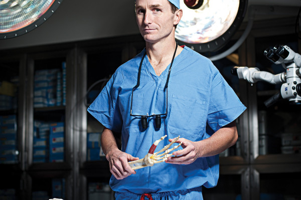 Dr. James Higgins is chief of the Curtis National Hand Center.Photo by Christopher Myers