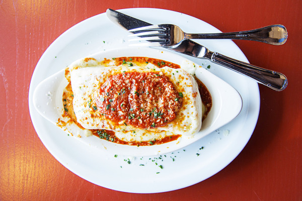 The lasagna with Bolognese sauce.Photography by Scott Suchman