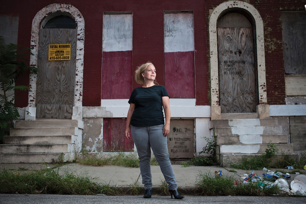 Carol Ott launched the blog Slumlord Watch almost four years ago, helping residents address vacant homes in their neighborhood.Photo by Daniel Bedell