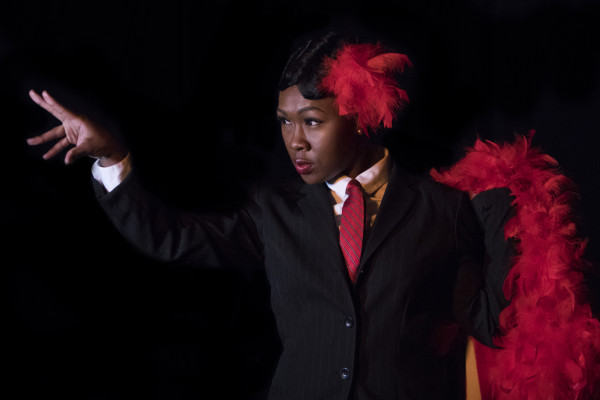 Charence Higgins as Lucifer in Battle of Blue Apple CrossingBaltimore Rock Opera Society