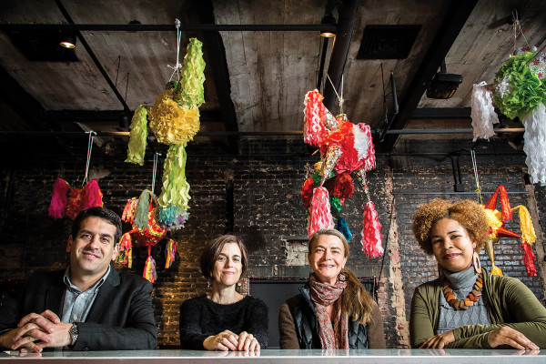 Josh Kohn, Gina Caruso, Margaret Footner, and Karen Summerville.Photography by Justin Tsucalas