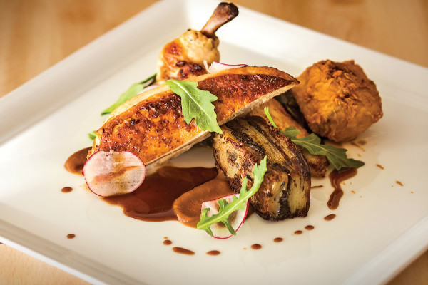 The pan-roasted chicken breast.Photo by Ryan Lavine