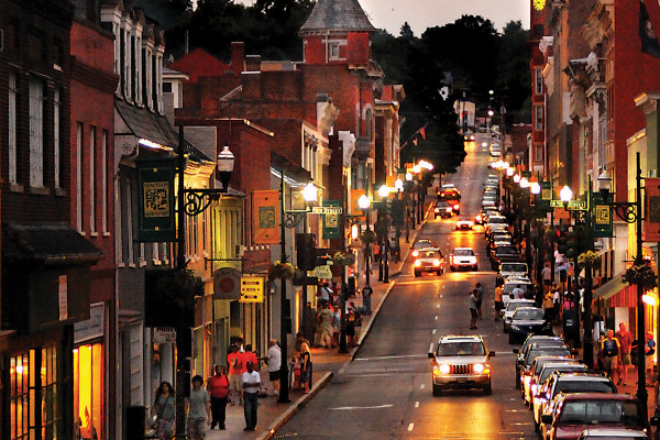 Staunton is an easy town for visitors to get around by foot or by a free trolley.Woods Pierce