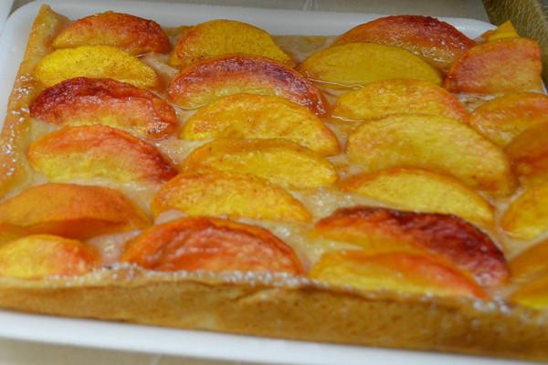 Peach cake.Weber's Farm