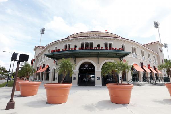 Ed Smith Stadium in all its sunny, Gulf Coast glory.Courtesy of Todd Olszewski/Baltimore Orioles