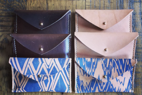 Wallets from Holding Pattern Studio will be on display at next month's For the Greater Goods Market. @holdingpatternstudio via Instagram
