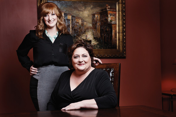 Amanda Jeffries, left, and Debbie Nazelrod in the Hunt Valley salon.Photo by Jonathan Hanson