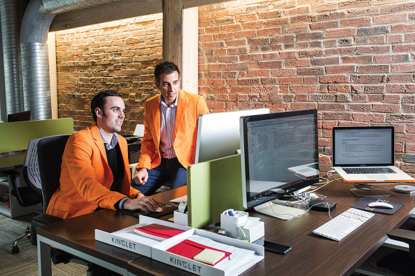 Alex Kopicki, left, and Jeff Jacobson at the Kinglet offices.Photography by Justin Tsucalas