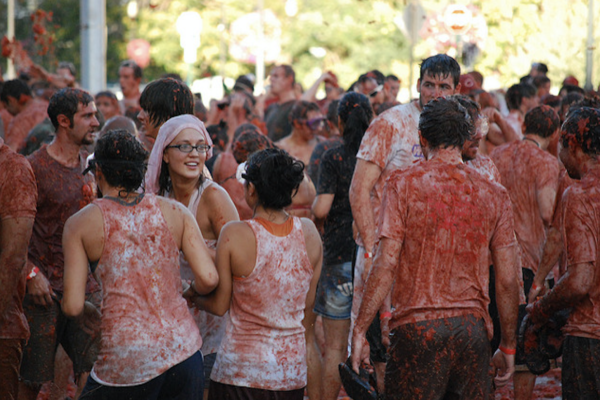 La Cuchara hosts its first-ever tomato fight this weekend. Courtesy of Flickr Creative Commons