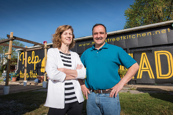 Regina Lansinger and Richard Marsiglia outside of the Harford Road site.Photography by Mike Morgan