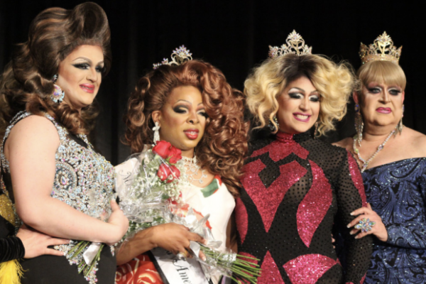 Miss Gay Maryland America 2017 winner Eva Couture poses with previous contestants. Photography by Michael J. Palmisano