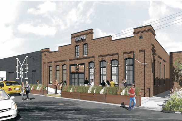 A rendering of the new Monument City brewery in Highlandtown.Courtesy of Monument City Brewing