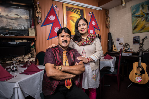 Prem Raja Mahat and his wife, Kabita Mahat.Mike Morgan