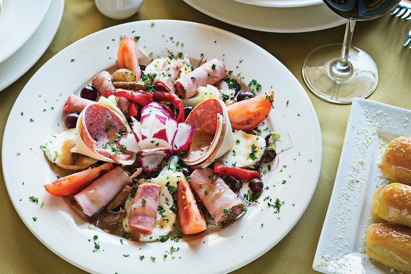 The antipasto platter is big enough to share.Photo by Scott Suchman