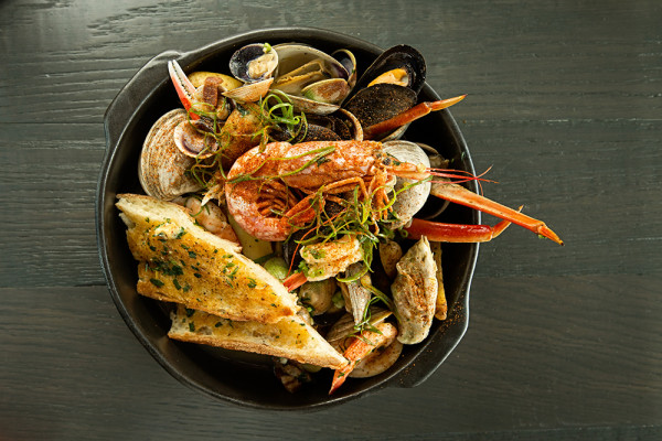 Wood-fired Seafood Bake.Scott Suchman