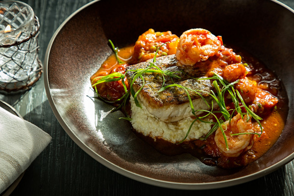 Rockfish shrimp and grits at Rye Street Tavern.Scott Suchman