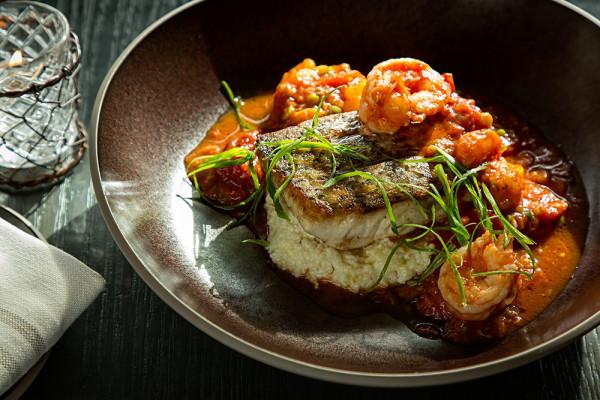 Rockfish shrimp and grits at Rye Street Tavern.Scott Suchman