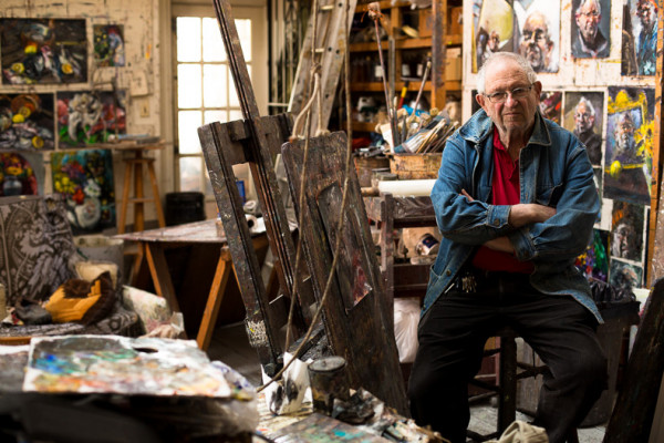 Raoul Middleman at the studio inside his Mt. Vernon home.Photography by Sean Scheidt