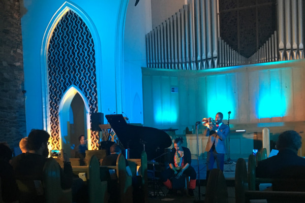 Mark G. Meadows, Akua Allrich, and Japheth Clark perform at the third annual Rise Bmore.Kaitlyn Pacheco