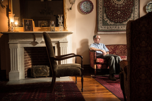 Ford being interviewed in his Bolton Hill home.Photography by Mike Morgan