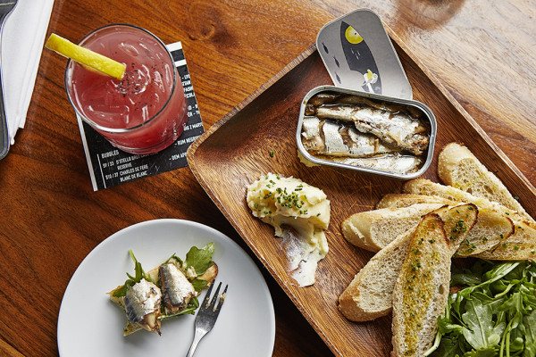 Sardines and cocktails.Tom McCorkle