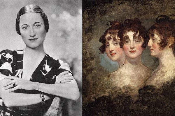 Wallis Simpson, left, and Elizabeth Patterson BonaparteWallis Simpson image via Wikipedia Commons; Elizabeth Bonaparte portrait by Gilbert Stuart