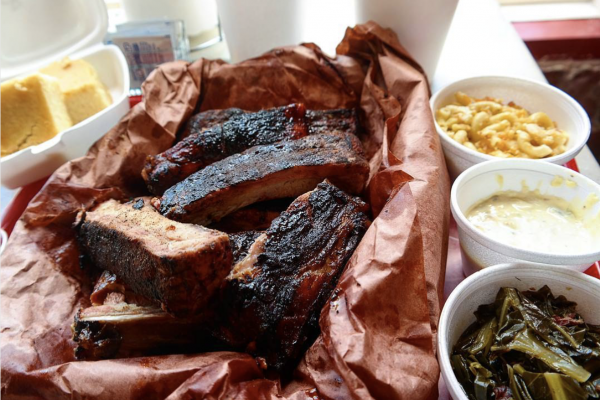 A rack of ribs and sides at The BBQ, which recently opened on Greenmount Avenue. Courtesy of @thebaltimorefoodie via Instagram